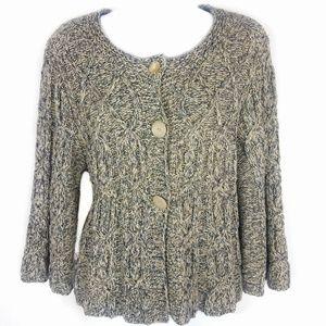 Stitch Fix Leo & Nicole Crop Chunky Sweater Large